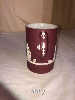 Wedgwood Jasperware Crimson Red Tankard Mug Stein-England-Neoclassical Victorian