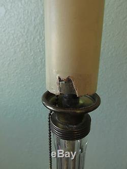 Wedgwood Jasperware Crystal Table Vanity Electric Candlestick Lamps Working