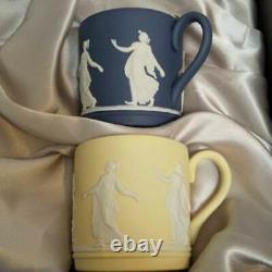 Wedgwood Jasperware Dancing Hours Set of 6 Cup & Saucer With Box Unused ENGLAND