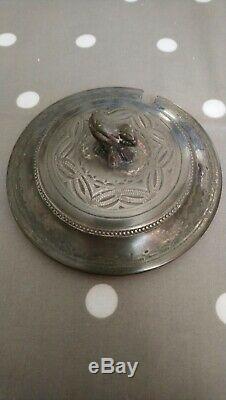 Wedgwood Jasperware Dip Tricolour Antique Jam/preserve Pot C. 1880 Extremely Rare