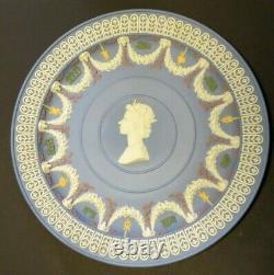 Wedgwood Jasperware Five Colour Queens Jubilee 1952-1977 Trophy Plate Rare