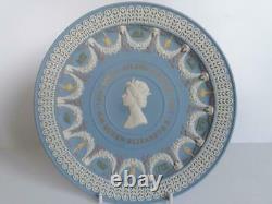 Wedgwood Jasperware Five Colours Trophy Plate Royal Silver Jubilee Boxed