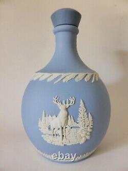 Wedgwood Jasperware Glenfiddich Scotch Whiskey Decanter, Vintage Ceramic Bottle