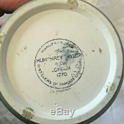 Wedgwood Jasperware Green 10 Humphrey Taylor 1770 Liqueur Bottle w Stop NICE