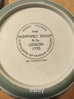Wedgwood Jasperware Green 7 Humphrey Taylor 1770 Liqueur Bottle w Stop NICE