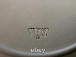 Wedgwood Jasperware Green Neoclassical Cake Plate, Set of 9