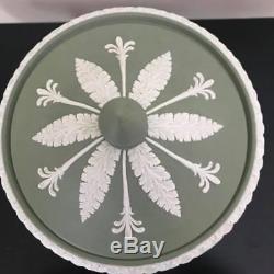 Wedgwood Jasperware Green Pedestal Campana Urn Excellent Conditon