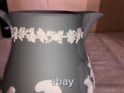 Wedgwood Jasperware Grey Milk Pitcher-Rare Color-Neoclassical-England