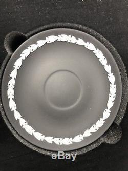 Wedgwood Jasperware Harlequin'Dancing Hours' Tea Set of 6 Cups & Saucers