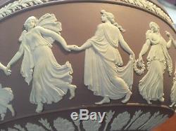 Wedgwood Jasperware Lilac RARE Large 8+ Dancing Hours Sacrifice Bowl NICE