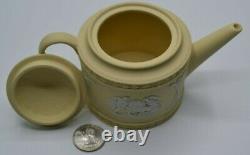 Wedgwood Jasperware Miniature Teapot Ulysses Yellow & White Excellent Condition