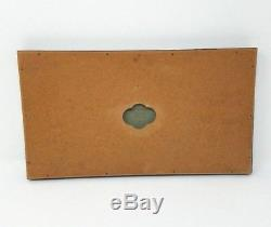 Wedgwood Jasperware Plaque Green Framed Vintage Cherub The Seasons