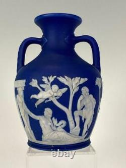 Wedgwood Jasperware RARE Pre1860 Dark Blue Dip 6 Portland Vase Nice