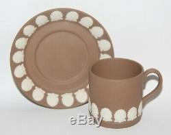 Wedgwood Jasperware Rare Harlequin Coffee Cup & Saucer Set vgc
