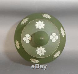 Wedgwood Jasperware Teal Green Dip Tea Poy Tea Cannister Caddy Sacrifice Figures