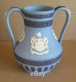 Wedgwood Jasperware Tri Coloured Two Handle Vase