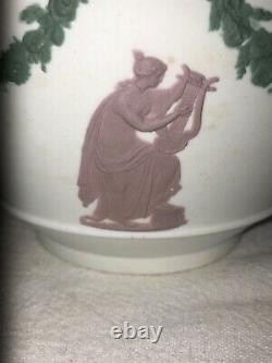 Wedgwood Jasperware Tricolor Cache Pot-Mythical Neoclassical ca 1890s Victorian
