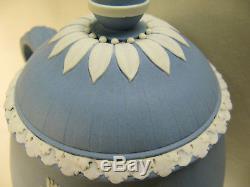 Wedgwood Light Blue & White Jasperware Teapot Designed by Lady Templeton 1785-90