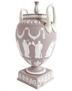Wedgwood Lilac Grecian Urn Vase Jasperware RARE