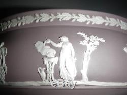 Wedgwood Lilac Jasperware Imperial Pedestal Bowl The Sacrifice