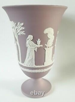 Wedgwood Lilac Jasperware Large Footed Vase