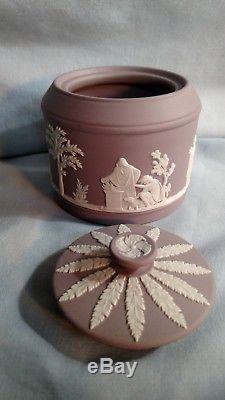 Wedgwood Lilac Jasperware Teapot, Sugar, and Creamer