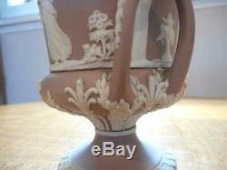 Wedgwood Lilac jasper dipped 7 #43 campana covered urn Museum 1906 mark