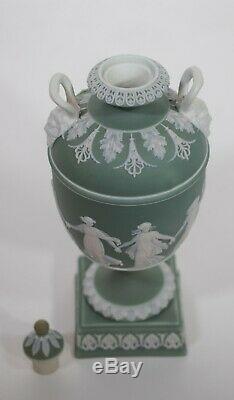 Wedgwood Only Green Jasperware Vase, Circa 1860