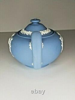 Wedgwood Pale Blue Jasper Queen Elizabeth II & Prince Philip Coronation Teapot