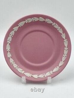 Wedgwood Pink Jasperware Dancing Hours Coffee Cup and Saucer