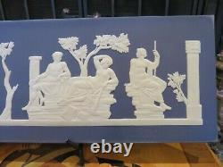 Wedgwood Portland Blue Jasperware Freeze Portland Vase Plaque Bicentenary 1995