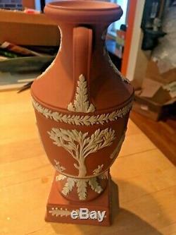 Wedgwood RARE Terracotta Jasperware Trophy Vase Urn Grecian Large 9 NICE