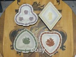 Wedgwood Reverse Color White Jasperware Heart Spade Diamond Club Card Bridge Set