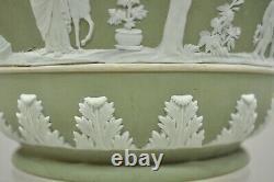 Wedgwood Sage Green 7.25 Jasperware Planter Pot Jardinière Cache Pot B