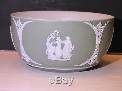 Wedgwood Sage Green Dip Jasper Ware Bute Bowl c. 1880