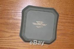 Wedgwood Sage Green Jasper Ware Museum Series Limited Edition Custard Set for 4