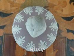 Wedgwood St James' Collection Tricolor Lilac Jasperware Cupid Arabesque Vase Urn