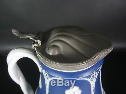 Wedgwood Steingut Kanne Jugendstil Jasperware Art Nouveau Jug England RARE