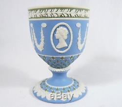 Wedgwood TRI-COLOR Queen Elizabeth II Jasperware CHALICE / CUP Ltd. Ed. Jubilee