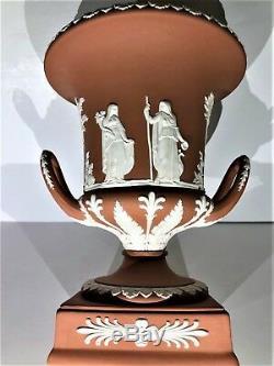 Wedgwood Terra Cotta Jasperware Pedestal Campana Urn Scarce C. 1957