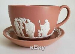 Wedgwood Terracotta Grecian Sacrifice Jasperware Jug Tea Cup Plate Set FreeUShip