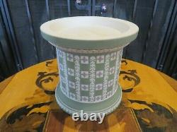 Wedgwood Tri-Color Jasper Ware Diced Humidor Tobacco Jar Limited Edition 92/200