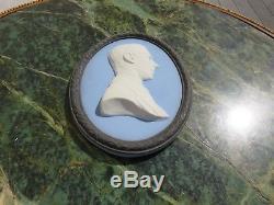 Wedgwood Tri-Color Jasper Ware Duke of York Bert Bentley Oval Medallion (c. 1920)