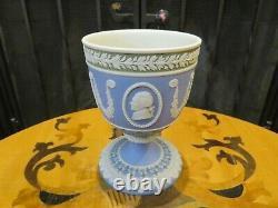 Wedgwood Tri-Color Jasperware Diced Goblet American Independence 1776-1976 1975