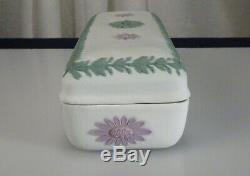 Wedgwood Tricolor Jasperware Rectangular Trinket Box 56671
