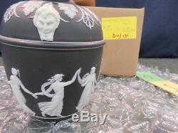 Wedgwood Urn Jar Jasperware Antique Pottery Basalt black Dancing Hours Vase