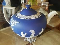 Wedgwood Wedgewood Jasperware Jasper ware Blue Dip Tea Pot From 1861