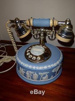 Wedgwood blue jasper ware phone telephone