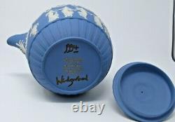Wedgwood blue jasperware rum kettle dancing hours, #53/100 1993, signed Wedgwood