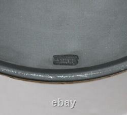 Wedgwood cane on black Jasper Library Collection large column jardinieres pair